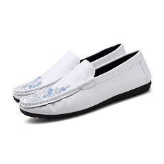 Floral Plain Casual Embroidery Men's Loafers