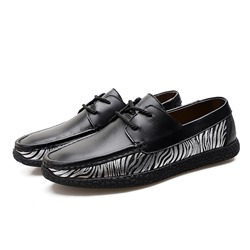 Zebra Lace-Up Casual Men's Loafers