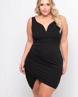 Shoespie Pullover V-Neck Polyester Women's Bodycon Dress