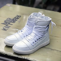Lace-Up Thread High Upper Men's Sneakers