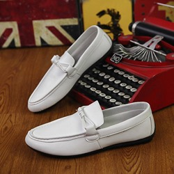 Shoespie Thread Bow Slip-On Men's Loafers
