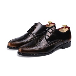 Thread Alligator Pattern Brush Off Men's Oxfords