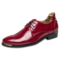 Beads Sequin Lace-Up Pointed Toe Men's Oxfords