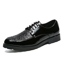 Shoespie Black Professional Lace-Up Men's Oxfords