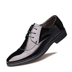 Shoespie Professional Black Lace-Up Men's Oxfords