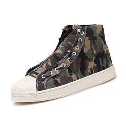 Camouflage Zipper Canvas Men's Sneakers