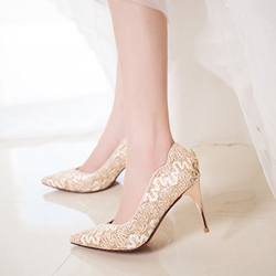Rhinestone Pointed Toe Stiletto Heel Wedding Shoes