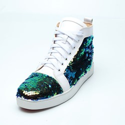 Sequin White Fashion Men's Sneakers