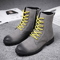 Casual Thread Lace-Up Brush Off Men's Boots