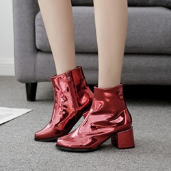 Shoespie Casual Metallic Ankle Boots