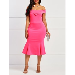 Shoespie Mermaid Slash Neck Pullover Women's Bodycon Dress