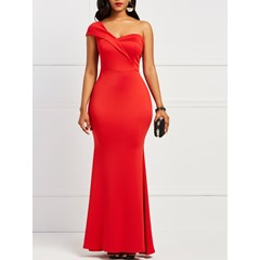Shoespie Polyester Backless Women's Maxi Dress