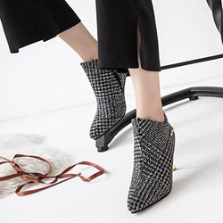 Chain Cloth Fashion Ankle Boots