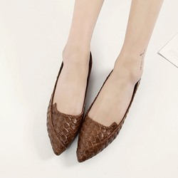 Woven Casual Slip-On Women's Loafers