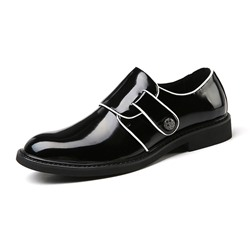 Black Plain Professional Men's Oxfords