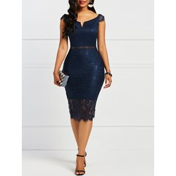 Shoespie Lace Hollow Women's Bodycon Dress