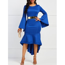 Shoespie Asymmetric Patchwork Women's Bodycon Dress