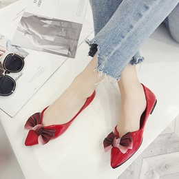 Cute Bowknot Pointed Toe Loafers