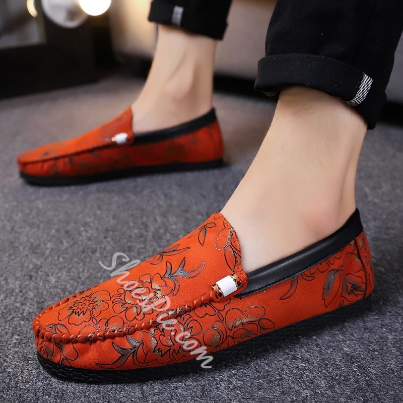 Shoespie Slip-On Floral Men's Loafers
