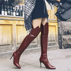 Shoespie Pointed Toe Fashion Stiletto Heel Thigh High Boots