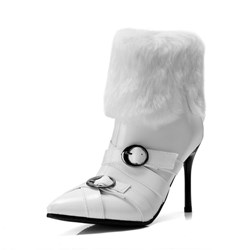 Shospie Buckle Stylish Stiletto Heel Ankle Boots