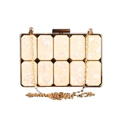 Shoespie Quilted Lining Hasp Women Clutch