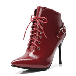 Shoespie Plain Buckle Classic Stiletto Heel Ankle Boots