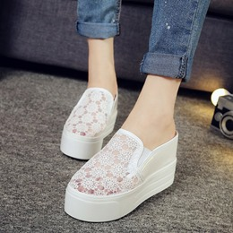 Mesh Casual Women's Wedge Sneakers