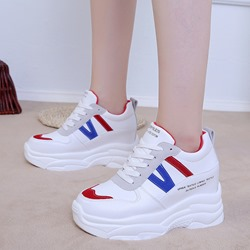 Lace-Up Red & Blue Women's Sneakers