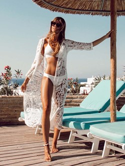 Floral Travel Look Thin Summer Women's Cape