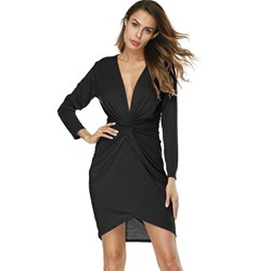Shoespie Office Lady Plain Women's Bodycon Dress