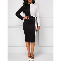 Shoespie Color Block Regular Women's Bodycon Dress