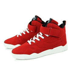 Velcro Lace-Up High Upper Men's Sneakers