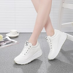 Shoespie Round Toe High Heel Sneakers