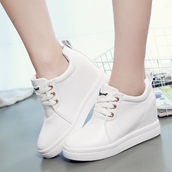 Casual Round Toe Women Lace-Up Wegde Sneakers