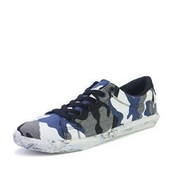 Camouflage Lace-Up Canvas Men's Sneakers