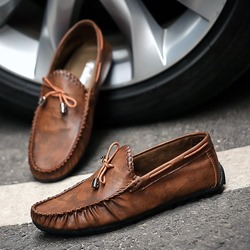 Shoespie Bow Thread Slip-On Men's Loafers