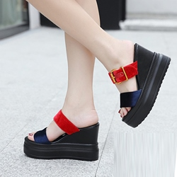 Buckle Slip-On Sexy Wedge Sandals