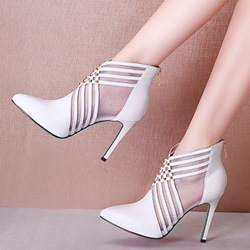High Upper Pointed Toe Zipper Sexy Boots