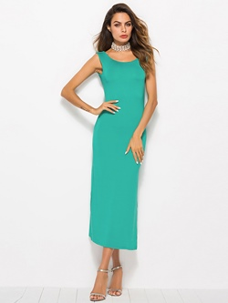 Shoespie Pullover Backless Split Women's Maxi Dress