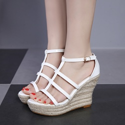 T-Shaped Buckle Summer Wedge Sandals