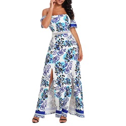 Shoespie Pullover Floral Print Women's Maxi Dress