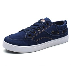 Canvas Lace-Up Low Upper Men's Sneakers