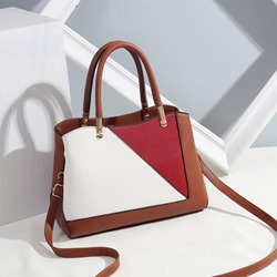 Shoespie Fashion PU Color Block Zipper Women Handbag