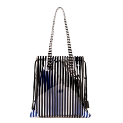 Shoespie Stripe Color Block Small Handbag