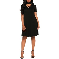 Shoespie Short Sleeve Pullover Women's Bodycon Dress