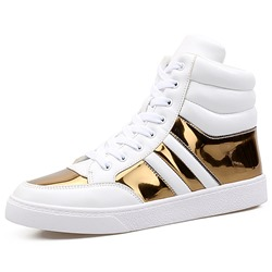 Lace-Up High Upper Casual Men's Sneakers