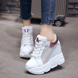 Hollow Platform Hidden High Heel Sneaker