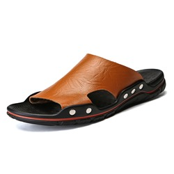 Hollow Rivet Slip-On Men's Sandals