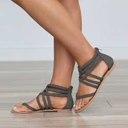 Summer Block Heel Thong Flat Sandals